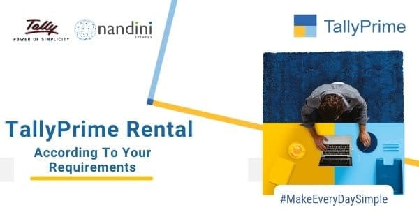 TallyPrime Rental | Nandini Infosys