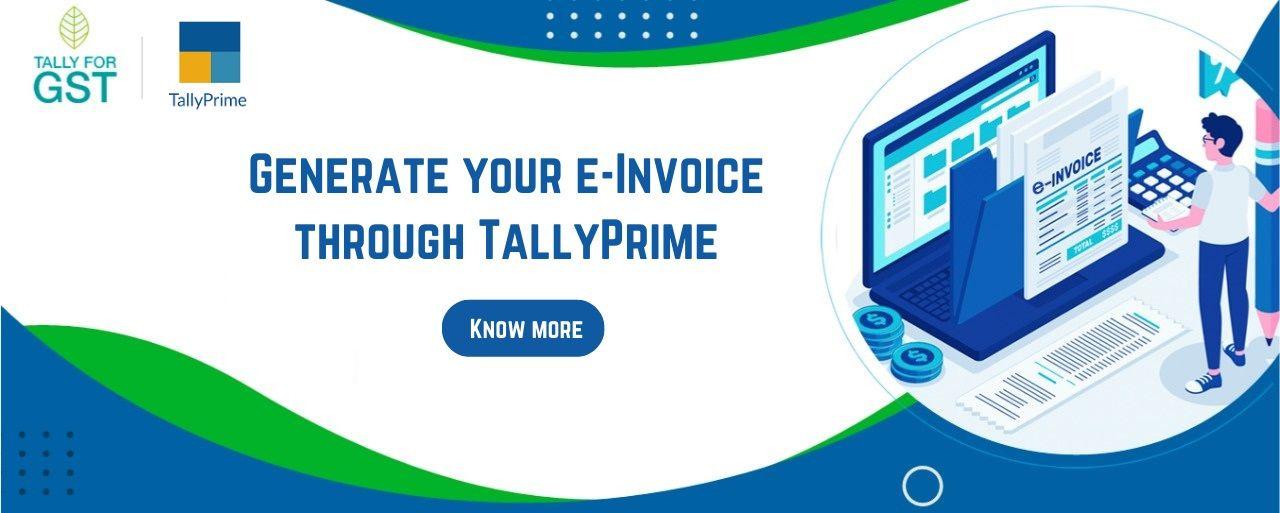 Tally Prime e-invoice